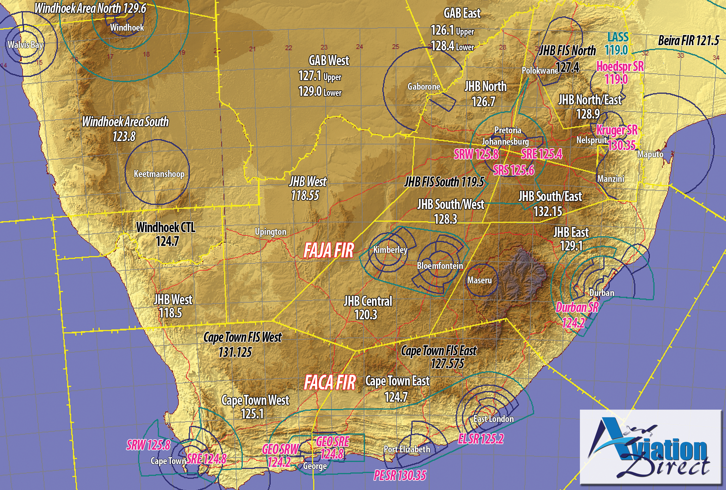 Sector Boundaries and FIR Boundaries for South Africa • Aviation