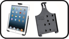 RAM EZ-ROLL'R™ Model Specific Cradle for the Apple iPad mini and iPad mini 3 WITHOUT CASE, SKIN OR SLEEVE