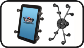 """931809b75cf RAM Universal X-Grip II™ Tablet Holder with 1"""" Ball for Samsung 7"""".  Includes holder"""