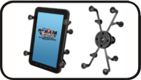 "RAM Universal X-Grip II™ Tablet Holder with 1"" Ball for iPad Mini"