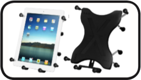 RAM X-Grip III™ Universal Spring Loaded Tablet Holder for Large Tablets including the Apple iPad, iPad 2, iPad 3, Samsung & Mo- torola XOOM